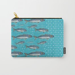 Atlantic Horse Mackerel and Bubble Dots Pattern Carry-All Pouch