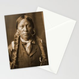 Native American Apache Portrait by Edward Curtis, 1904 Stationery Cards