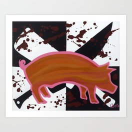 Marked Pig Art Print