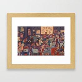 Clint's Coffee Framed Art Print