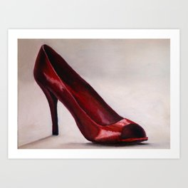 Red Shoe Art Print