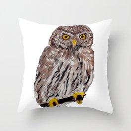 Chouette chévèche - Owl Throw Pillow