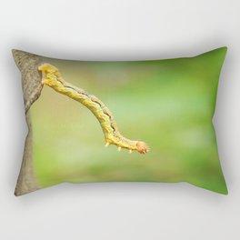 Just a little bit funny worm photography Rectangular Pillow