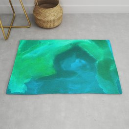 Textured Watercolor - Ocean Man Palette Rug