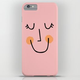 Winky Smiley Face in Pink iPhone Case