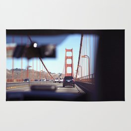 From the Backseat, Driving Across the Golden Gate Rug