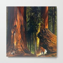 'Redwoods, Yosemite Forest' landscape painting by Gilbert Munger Metal Print