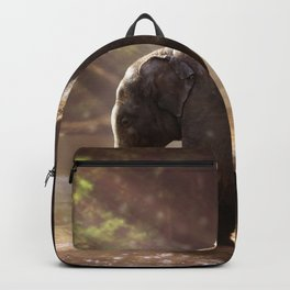 Baby Elephant & Mama at Watering Hole Backpack
