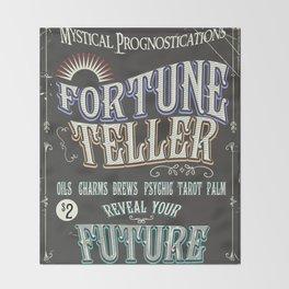 Mystical Fortune Teller poster Throw Blanket