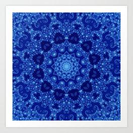 Ocean of Light Mandala Art Print