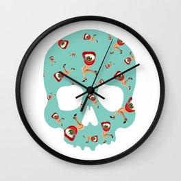 Skull Eye Legs Wall Clock