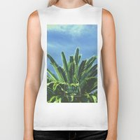 "palm tree Biker Tanks featuring Palm TreE  by ""CVogiatzi."