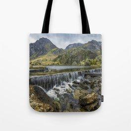 Llyn Ogwen Weir Tote Bag