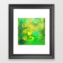 Dream wreck with butterflies Framed Art Print