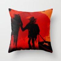django Throw Pillows featuring Django by IOSQ