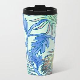 Moonlit Chrysanthemum Metal Travel Mug