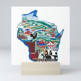 Wisconsin Country Sampler Mini Art Print