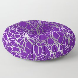 Pattern and Light purple silver Floor Pillow