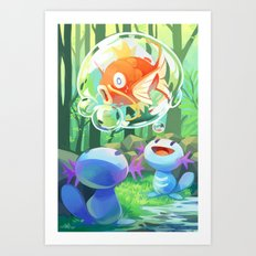 Captured! Art Print