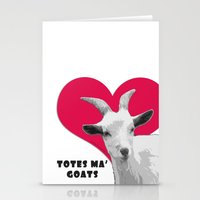 totes Stationery Cards featuring Totes Ma Goats - Red by BACK to THE ROOTS