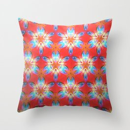 Nine-Pointed Star Flower: Perfection Throw Pillow