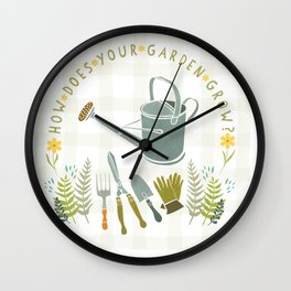 How Does Your Garden Grow? Wall Clock