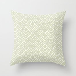 Summer in Paris - Classic Soft Green Geometric Minimalism Throw Pillow
