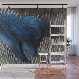 Particular Blue Dune on Mars Wall Mural