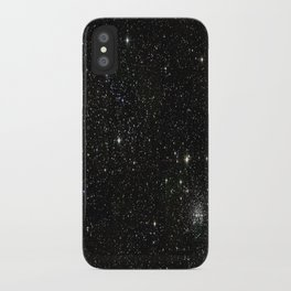 Universe Space Stars Planets Galaxy Black and White iPhone Case