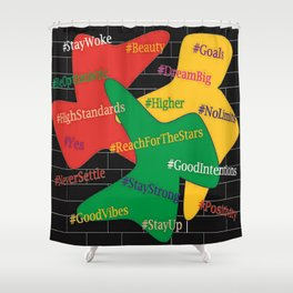 Hashtags Up Shower Curtain