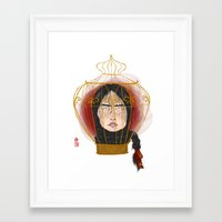 cage Framed Art Prints featuring Cage by Luna Kirsche