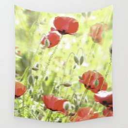 Poppies in the bright sunshine Wall Tapestry