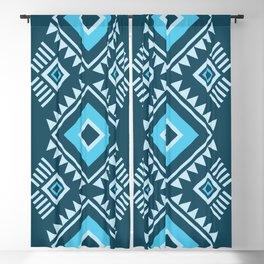 Blue geometric pattern Blackout Curtain