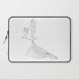 Eagle Flying American Flag Laptop Sleeve