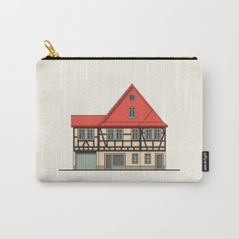 Half-timbered house with red roof Carry-All Pouch