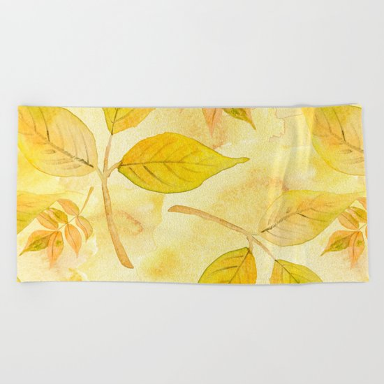 Autumn leaves #13 Beach Towel