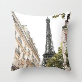 Eiffel tower architecture Throw Pillow