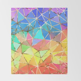 Rainbow geometric #10 Throw Blanket