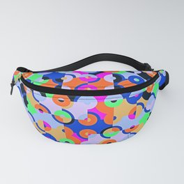Colored Circle Quarters Fanny Pack