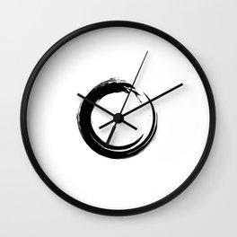 Black enso circle Wall Clock