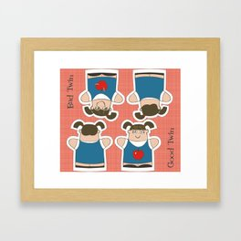 Good Twin/Bad Twin Puppets Framed Art Print