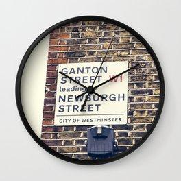 London street sign Wall Clock