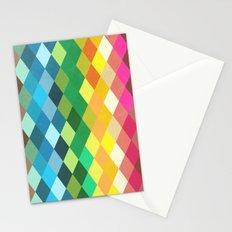Diamond Color Spectrum Pattern Stationery Cards