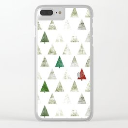 083 - Happy Owly found its winter home Clear iPhone Case