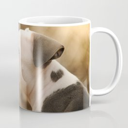 American Pit Bull Terrier puppy with Heart Coffee Mug