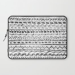Black and White Tribal Pattern Laptop Sleeve