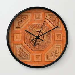 Symbolism Paneling Oriental Ornament Pattern Wall Clock