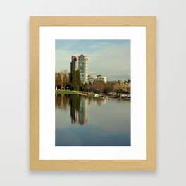Water And High Rises Framed Art Print