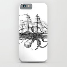 Octopus Attacks Ship on White Background Slim Case iPhone 6s