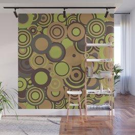 circles-orange-choc-lime Wall Mural